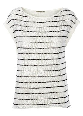 Patrizia Pepe - T-shirt - 2J1840 A1A - Sort/Hvid Strib