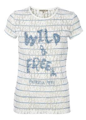 Patrizia Pepe - T-shirt - 2J1841 A1A - Navy/Hvid Strib