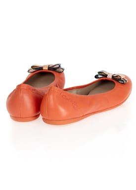 Lise Ballerinas Mørk Orange