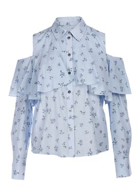 Paul & Joe Sister - Bluse - Arpege - Light Blue w. Pattern