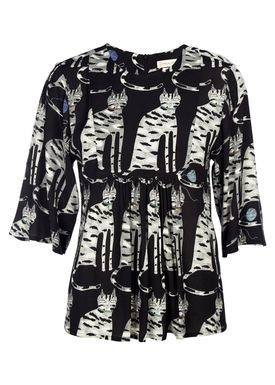 Paul & Joe Sister - Bluse - Juliano - Black w. Print
