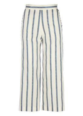 Paul & Joe Sister - Bukser - Rigato Pants - Creme/Blå Strib