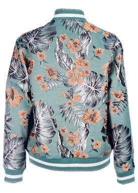 Paul & Joe Sister - Jacket - Hibiscus Bomber - Green Pattern