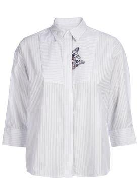 Paul & Joe Sister - Skjorte - Babines - White/Light Blue Stripes