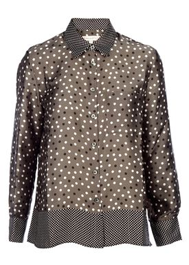 Paul & Joe Sister - Skjorte - Scrabble  - Dark Khaki/Dots