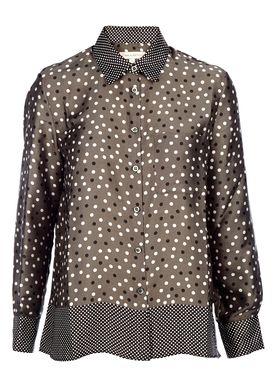 Paul & Joe Sister - Skjorte - Scrabble  - Dark Khaki/Dots