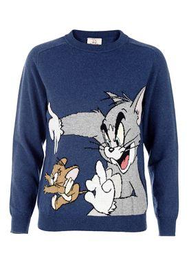 Paul & Joe Sister - Strik - Taquin - Blå m. Tom & Jerry