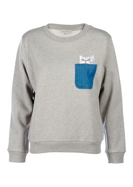 Paul & Joe Sister - Sweatshirt - Street Cat - Light Grey