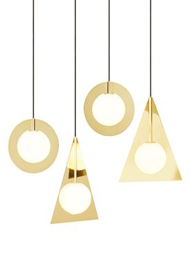 Tom Dixon - Lampe - Plane Triangle Pendant - Messing