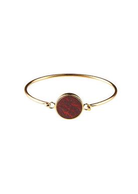 Plissé Copenhagen - Bracelet - Marble Bracelet - Gold/Bordeaux