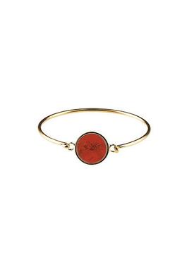 Plissé Copenhagen - Bracelet - Marble Bracelet - Gold/Rust