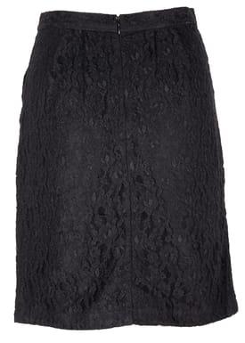 Lace Skirt Nederdel Sort