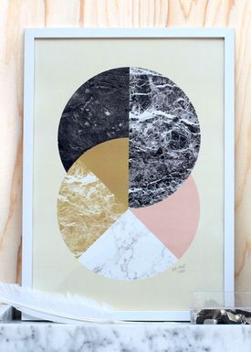 Poster - Circles in Material  Yellow