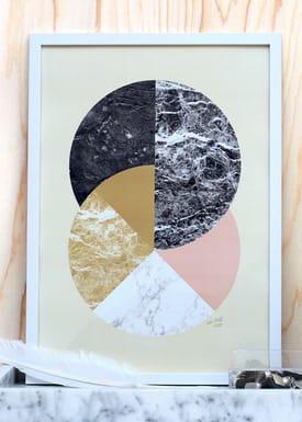 Poster - Circles in Material  Gul