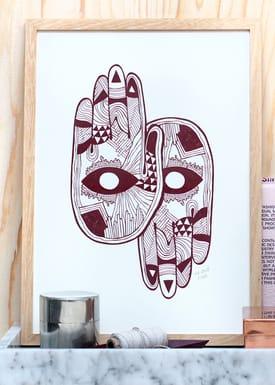Poster - Hands  Bordeaux