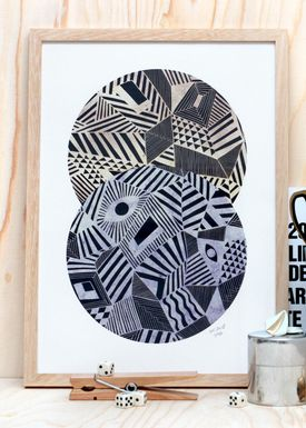 Poster - Hypnosis  Blå/Sand