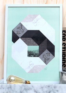 Poster - Stone Octagon  Mint
