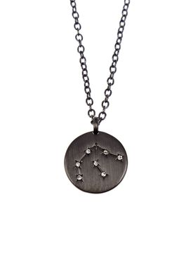 Pure By Nat - Necklace - Zodiac chain - Oxidised Aquarius 21.01-18.02