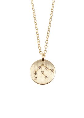 Pure By Nat - Necklace - Zodiac chain - Gold Aquarius 21.01-18.02