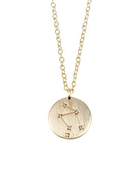 Pure By Nat - Necklace - Zodiac chain - Gold Libra 24.09-23.10
