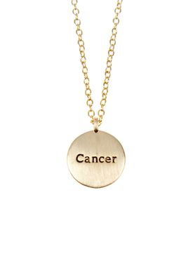 Pure By Nat - Necklace - Zodiac chain - Gold Cancer 22.06-22.07