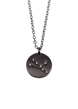 Pure By Nat - Necklace - Zodiac chain - Oxidised Taurus 21.04-21.05