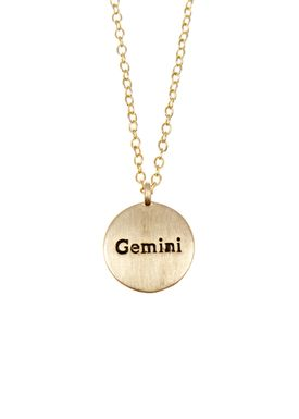 Pure By Nat - Necklace - Zodiac chain - Gold Gemini 22.05-21.06