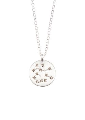 Pure By Nat - Necklace - Zodiac chain - Silver Gemini 22.05-21.06