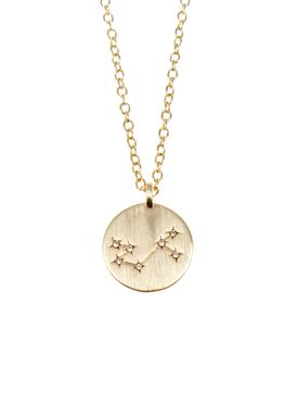 Pure By Nat - Necklace - Zodiac chain - Gold Scorpio 24.10-22.11