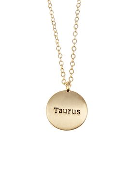 Pure By Nat - Necklace - Zodiac chain - Gold Taurus 21.04-21.05