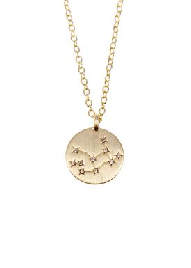 Pure By Nat - Necklace - Zodiac chain - Gold Virgo 24.08-23.09
