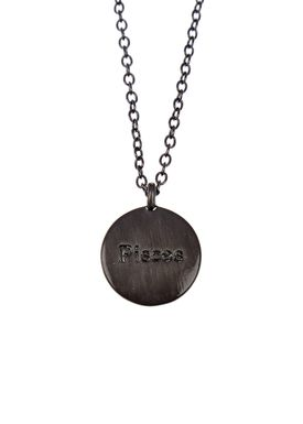 Pure By Nat - Necklace - Zodiac chain - Oxidised Pisces 19.02-20.03