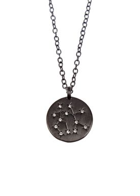 Pure By Nat - Necklace - Zodiac chain - Oxidised Gemini 22.05-21.06