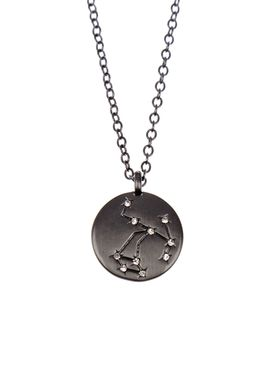 Pure By Nat - Necklace - Zodiac chain - Oxidised Sagittarius 23.11-21.12
