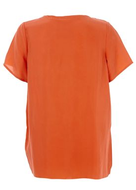 5Preview - T-shirt - Raw Edge Tee - Papaya