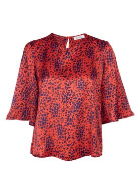 Rodebjer - Bluse - Cadea - Red Flower Print