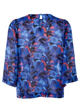 Rodebjer - Blouse - Maine Print - Intense Blue