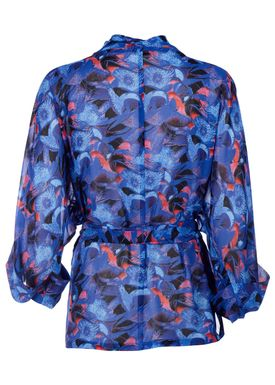 Rodebjer - Cardigan - Tennesse Print Cardi - Intense Blue