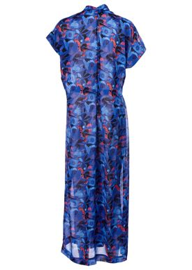 Rodebjer - Dress - Olympia Print Dress - Intense Blue Print