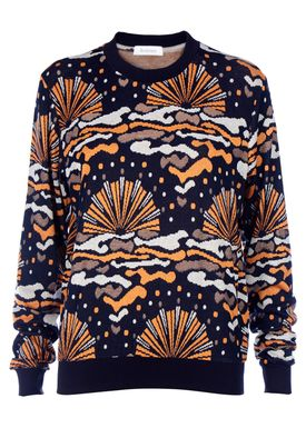 Rodebjer - Knit - Wells Printed - Navy Pattern