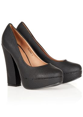 S Bar - Stilettos - Silje Snake - Black