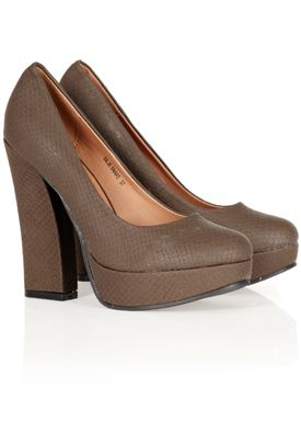 S Bar - Stilettos - Silje Snake - Brown