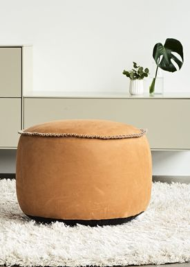 SACKit - Bean Bag - RETROit Dunes- Drum - Cognac