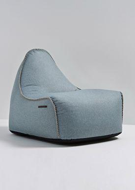 SACKit - Sækkestol - RETROit Medley / Luksus sækkestol - Dusty Blue - 66008