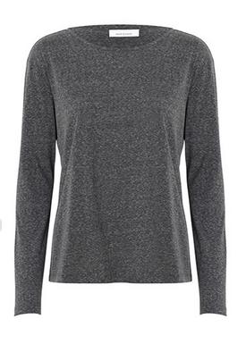 Samsøe & Samsøe - Bluse - Nobel LS - Dark Grey Melange