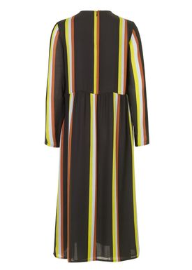 Samsøe & Samsøe - Kjole - Raven Dress - Black Multi Stripe