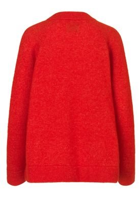 Samsøe & Samsøe - Knit - Nor O-neck Short - Flame Scarlet