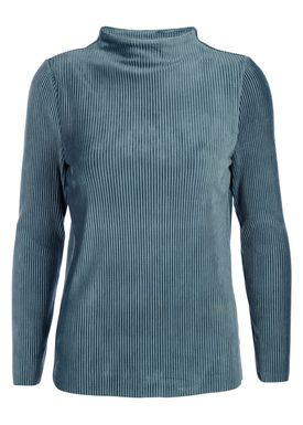 Selected Femme - Bluse - Velva High Neck Sweat - Orion Blue