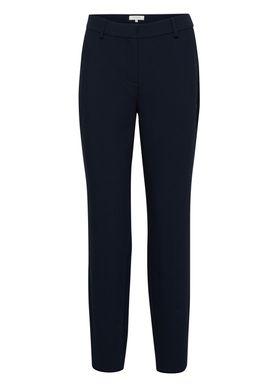 Selected Femme - Bukser - Amila Mid Waist Pants - Dark Sapphire