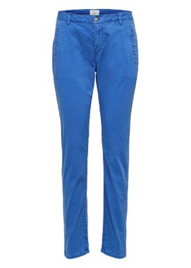 Selected Femme - Byxor - Ingrid Tapered Chinos - Surf The Web (Blue)